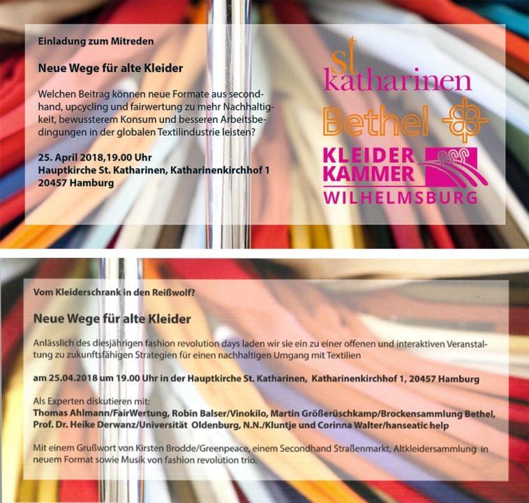 Abbildung der Einladung: Neue Wege für alte Kleidung - Einladung zum Mitreden