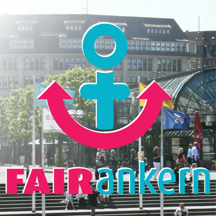 FAIR ankern Rathauspassage Hamburg